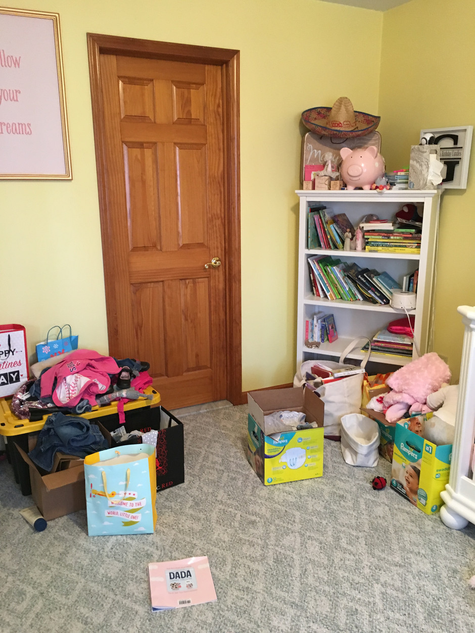 Toddler room clean-up