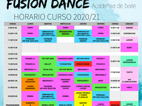 HORARIO 2020/21
