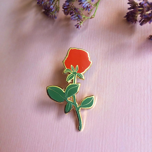 Red Rose Hard Enamel Pin
