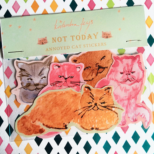 Annoyed Cats Sticker Pack