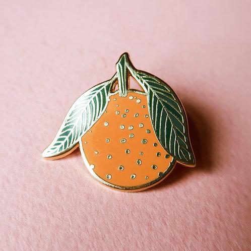 Orange Enamel Pin