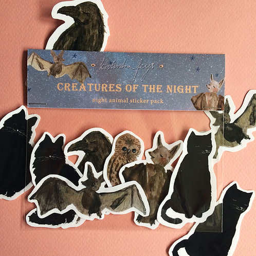 Night Creatures Sticker Pack