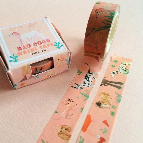 'Bad Dogs' Washi Tape