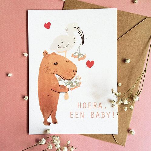 Capybara Baby (NL) Greeting Card