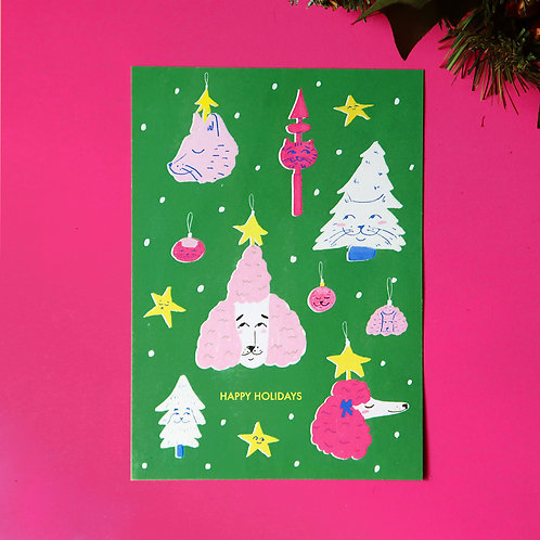 Quirky Ornaments Christmas Card