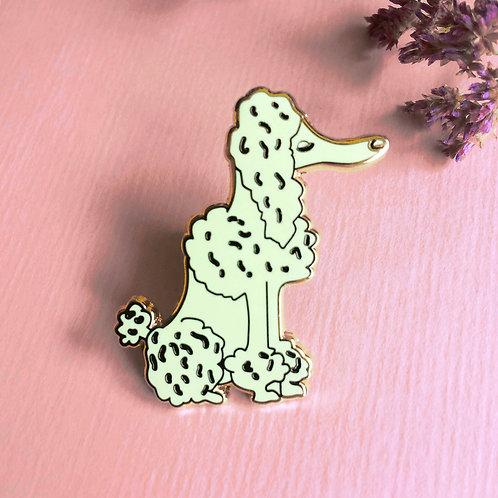 Poodle Hard Enamel Pin