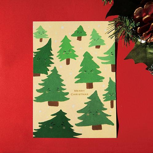 Lucky Christmas Tree Greeting Card