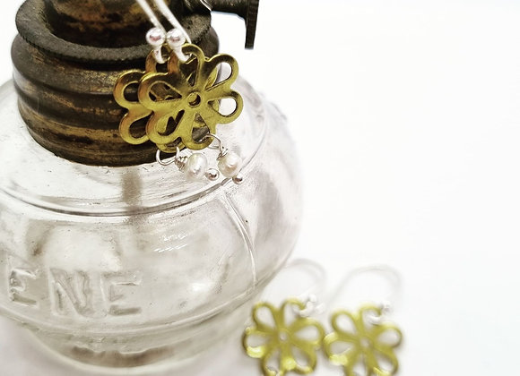 Brass Flower Drops
