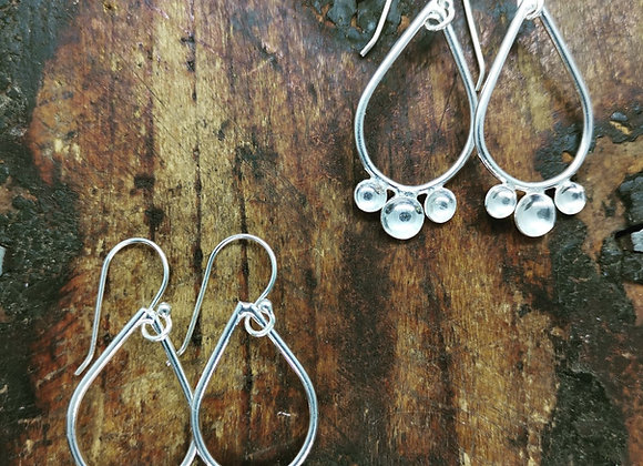 Tear Drop Sterling Silver Earrings