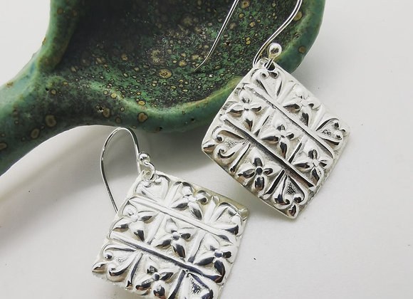 Tic Tac Toe Sterling Silver Drops