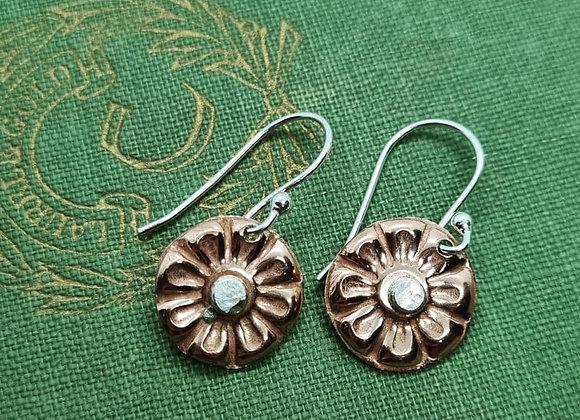 Petite Copper Flowers