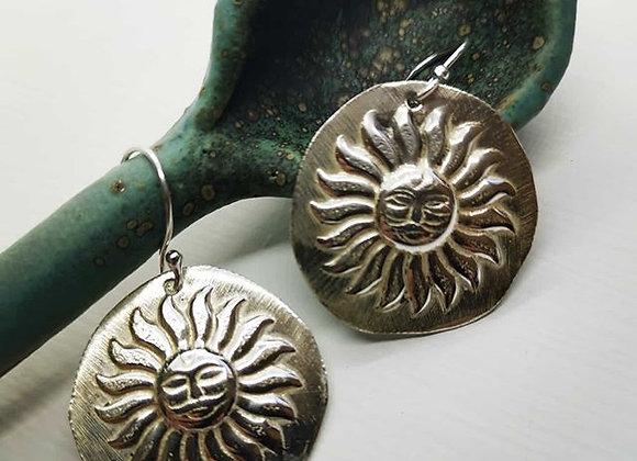 Let The Sunshine In Sterling Silver Drop Earrings
