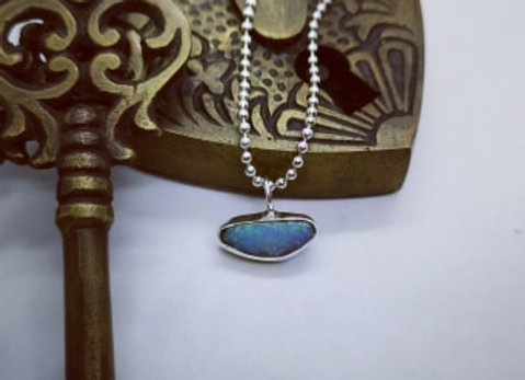 Sterling Silver & Opal Necklace