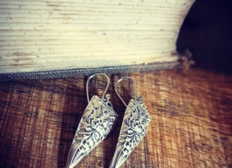 Tribal Drop Sterling Silver Earrings