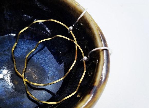 Zig Zag Brass Hoops