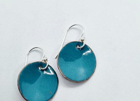 Enamel Disc Earrings