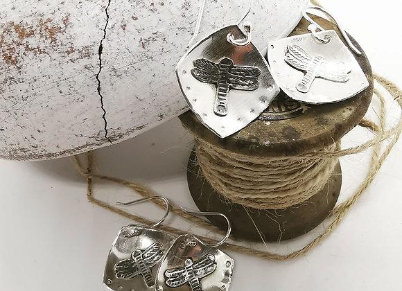 Dragonfly Sterling Silver Earrings