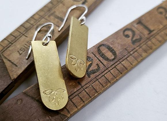 Louts Brass & Sterling Silver Earrings