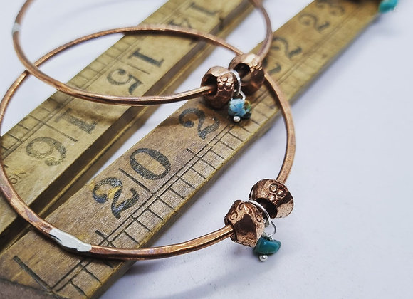 Copper & Natural Turquoise Bangle