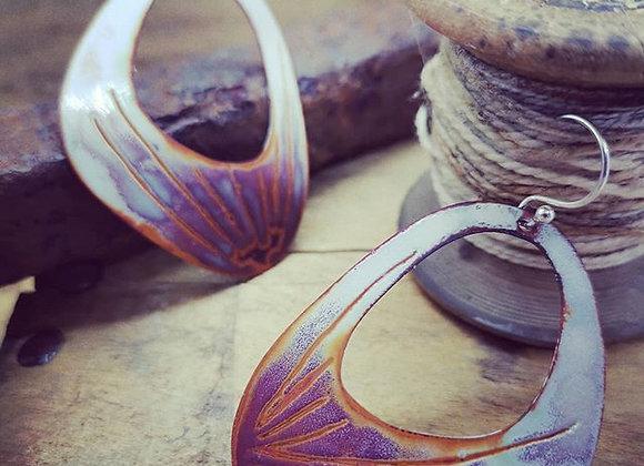 Unique Enamel Earrings