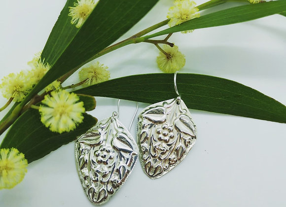 Lost In flora & Fauna Sterling Silver Earrings