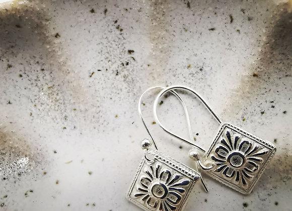 Art Deco Sterling Silver Drop Earrings