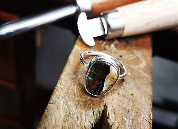 Australian Opal Ring Size Q
