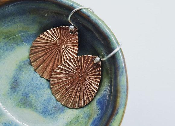 Im Your Biggest Fan Copper Earrings