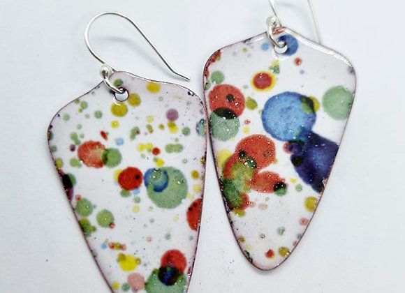 Ink Splat Enamel Earrings