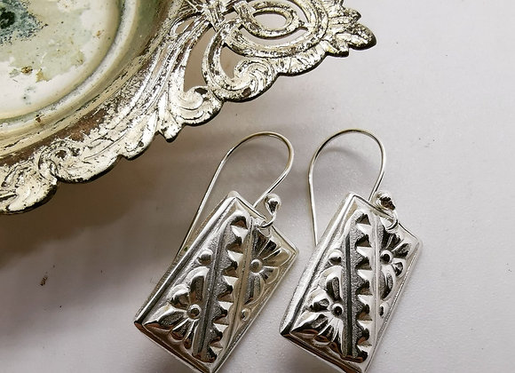 Rectangle Sterling Silver Drops