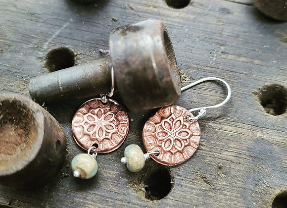 Textured Copper And Agate
