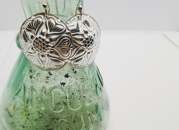 Love & Sunflowers Sterling Silver Earrings