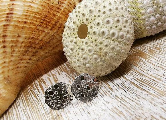Sea Urchin Sterling Silver Studs