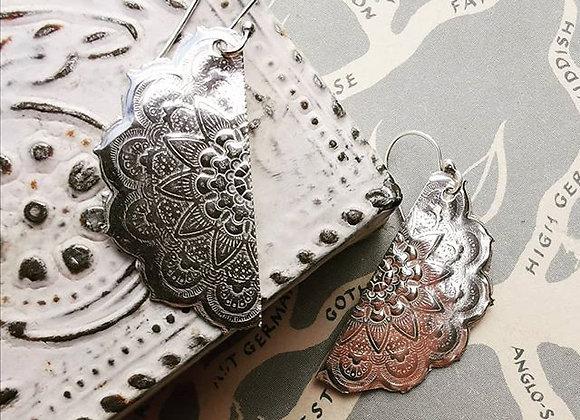 Mandala Sterling Silver Earrings