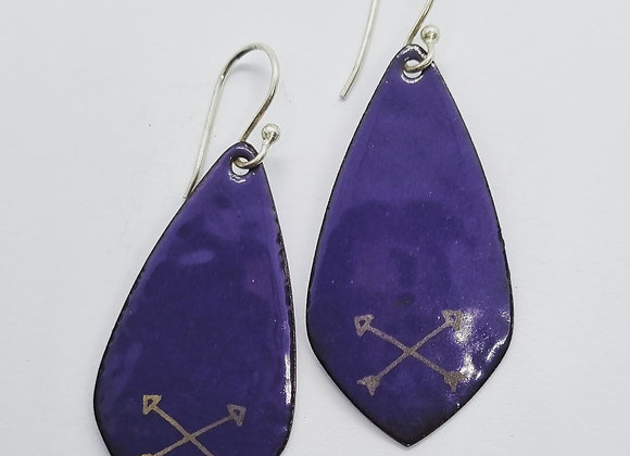 Detailed Enamel Earrings