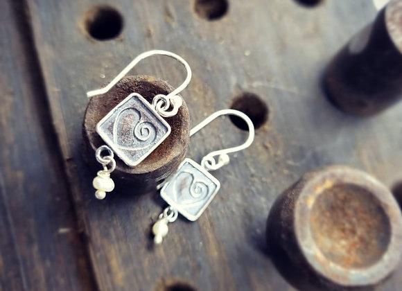 I Heart You Sterling Silver Earrings.