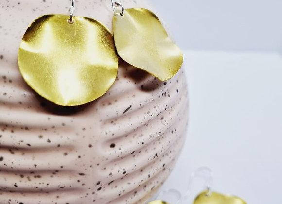 Organic Formed Brass Earrings