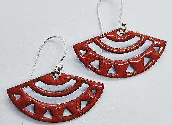 Aztec Inspired Enamel Earrings