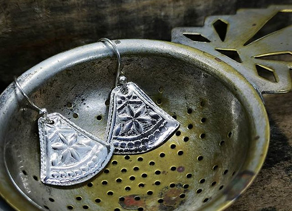 Boho Sterling Silver Earrings.