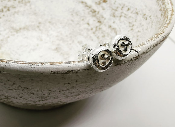 Trio Dot Sterling Silver Studs