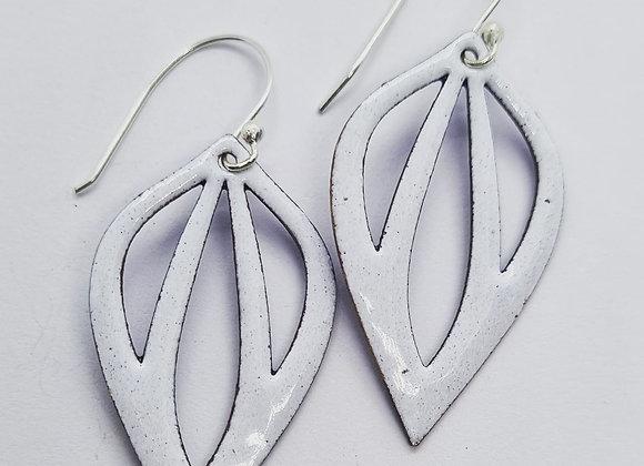 Open Drop Enamel Earrings