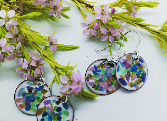 Confetti Enamel Earrings
