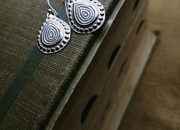 Boho Drop Sterling Silver Earrings