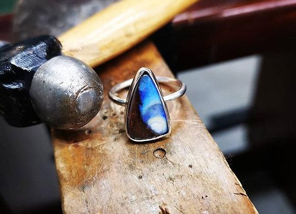 Australian Opal Ring Size S 1/2