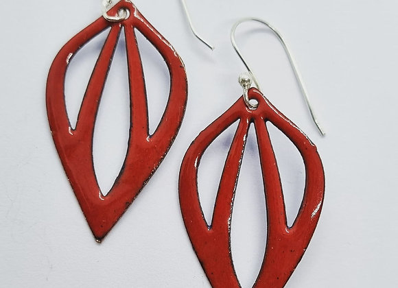 Open Drop Enamel Earrings