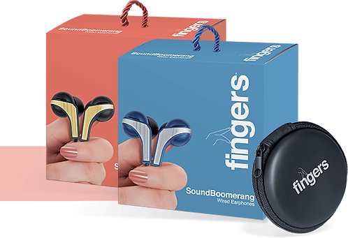 fingers Earphones soundBOOMERANG