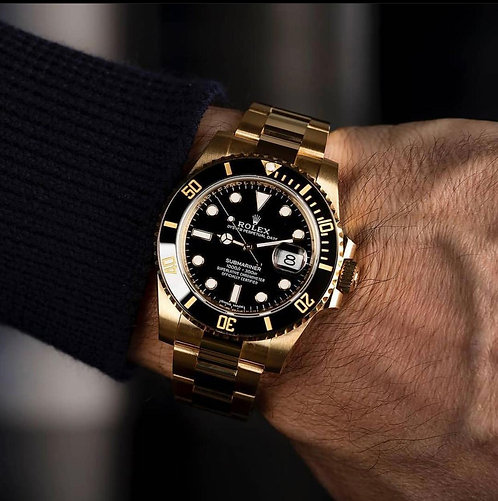 ROLEX BLACK & GOLDEN