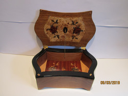 PB#255 French Marquetry 3 Tiers Burl