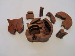 PB#290d Full Cat Puzzle Box $45