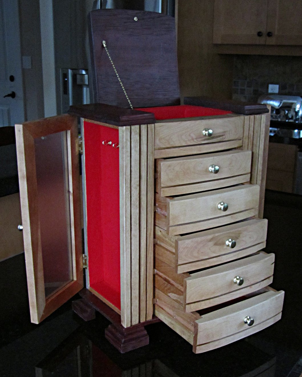 Jewelry cabinet for Angela